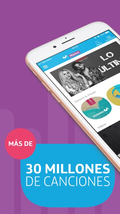 Screenshot for Movistar Música in Chile App Store