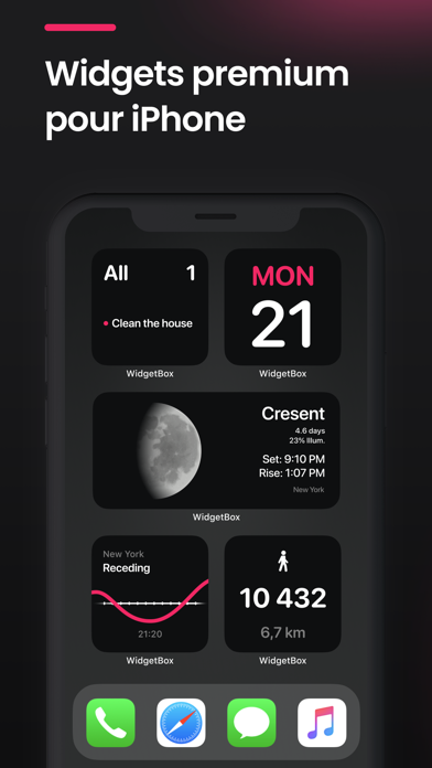WidgetBox: Widget & Raccourcis