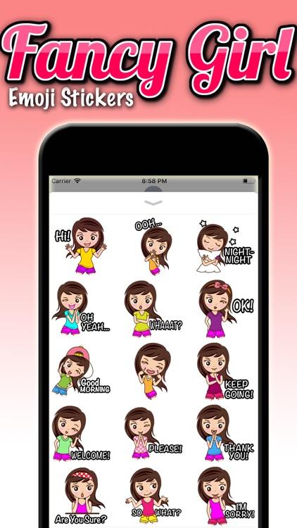 Fancy Girl Emoji Stickers