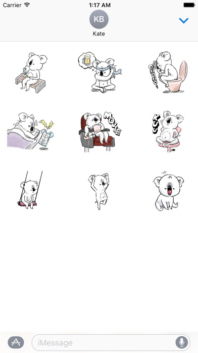 Animated Lazy Koala Stickers screenshot 2