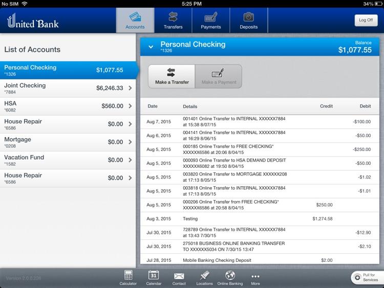 United Bank Ohio for iPad
