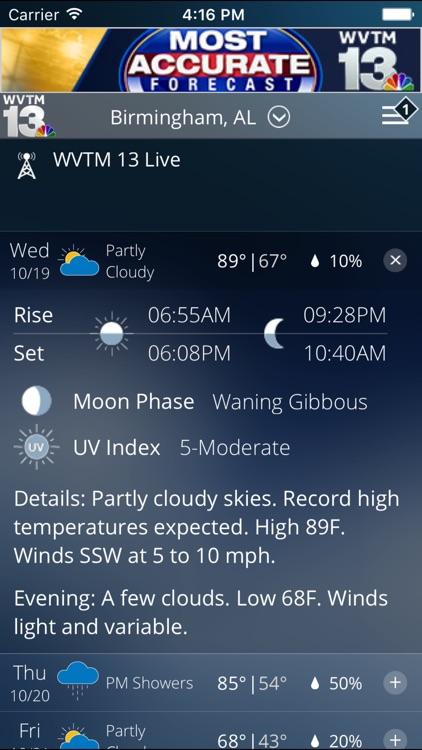 WVTM 13 Weather screenshot-3