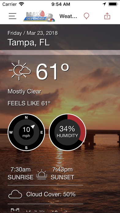 Max Defender 8 Weather App review screenshots