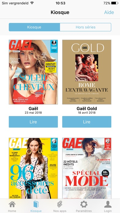 Image of Gael Magazine for iPhone