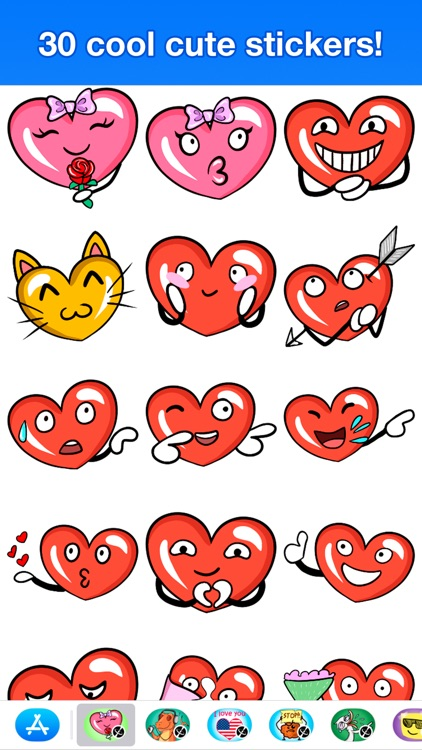 Hearts - Cute stickers