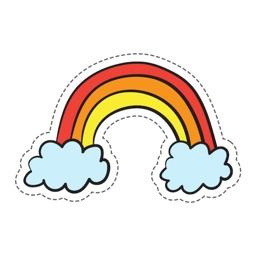 Rainbow Stickers Pro