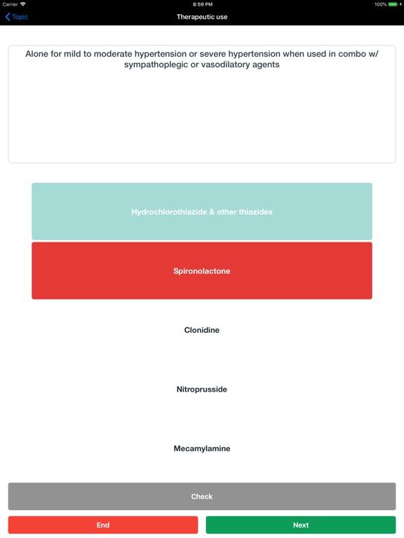 Flashcard Pharmacology Screenshots