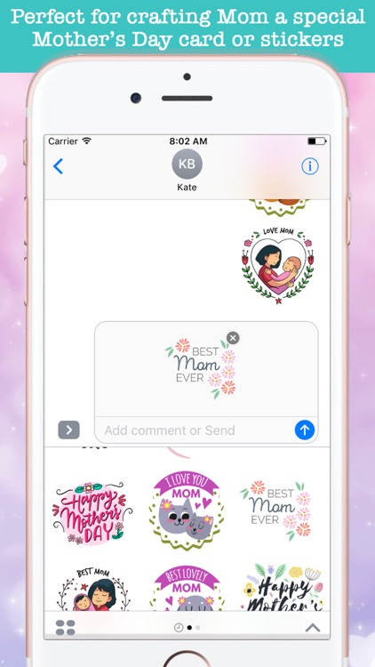 Cute Mother's Day Stickers screenshot-3