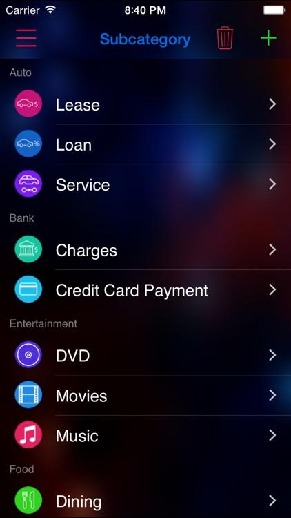 Expense Nova 2.0 : Home Budget screenshot-4