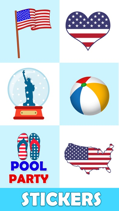 Animated July Fourth Stickers Screenshot 5