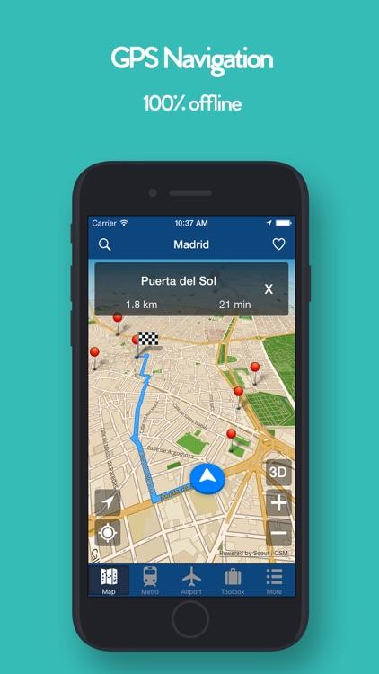 Madrid Offline Map - Metro