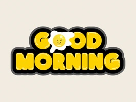 Downloads Good Morning Typography Emojis for iMessage