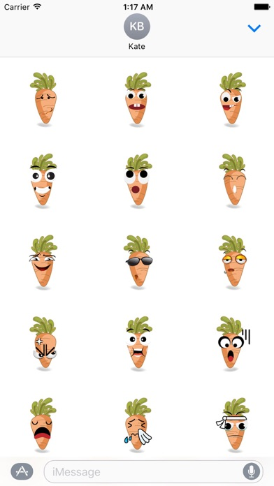 Cute Carrot Emoji Sticker screenshot 2