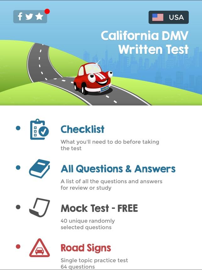 California DMV Written Test on the App Store