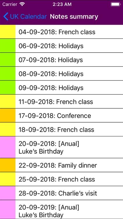 2019 UK Holiday Calendar screenshot-5
