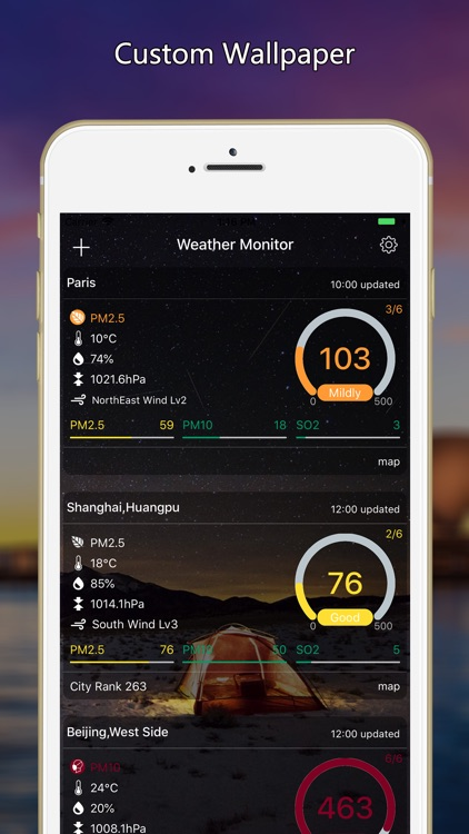 weather monitor-air quality