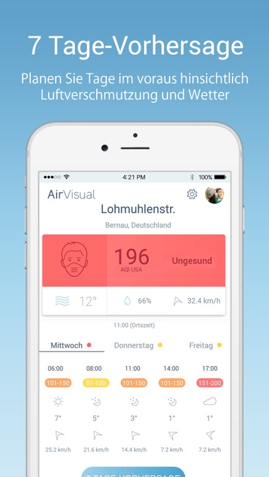 Screenshot for AirVisual Luftqualität PM2.5 in Austria App Store