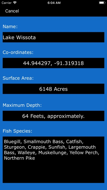 Wisconsin Lakes & Fishes screenshot-1