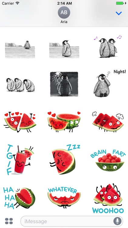Watermelon And Penguin Sticker