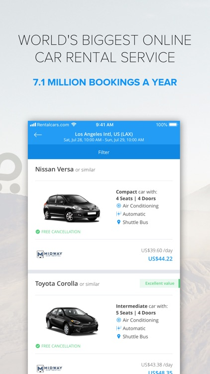 Rentalcars.com Car rental App screenshot-3