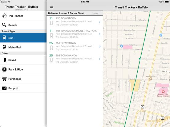 Transit Tracker - Buffalo-ipad-1