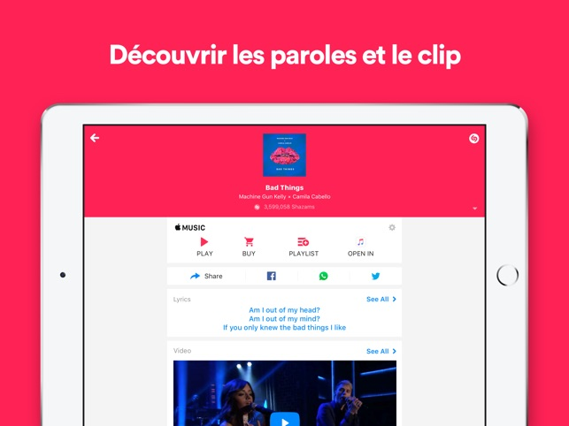 Shazam Capture d'écran