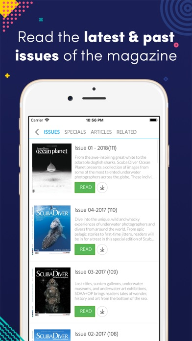 Scuba Diver Magazine review screenshots