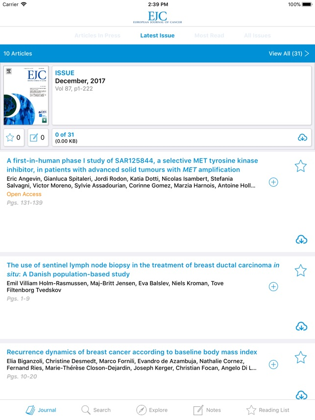 European Journal of Cancer on the App Store