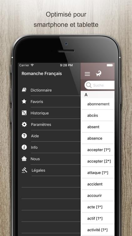 Dictionnaire Romanche Francais screenshot-4
