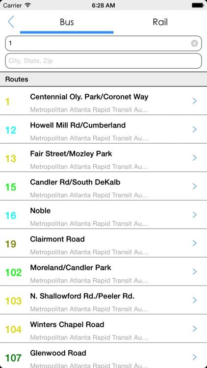 Transit Tracker - Atlanta screenshot-4
