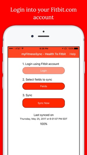 Health App to Fitbit Sync