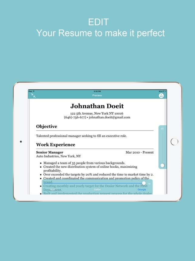 Resume Builder - CV Designer on the App Store