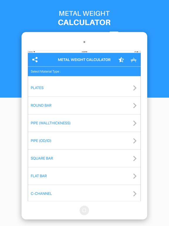 Metal Weight Calculator -Steel   App Price Drops