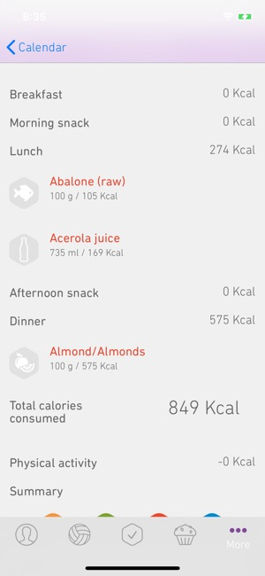 Mango Calories Counter Screenshot