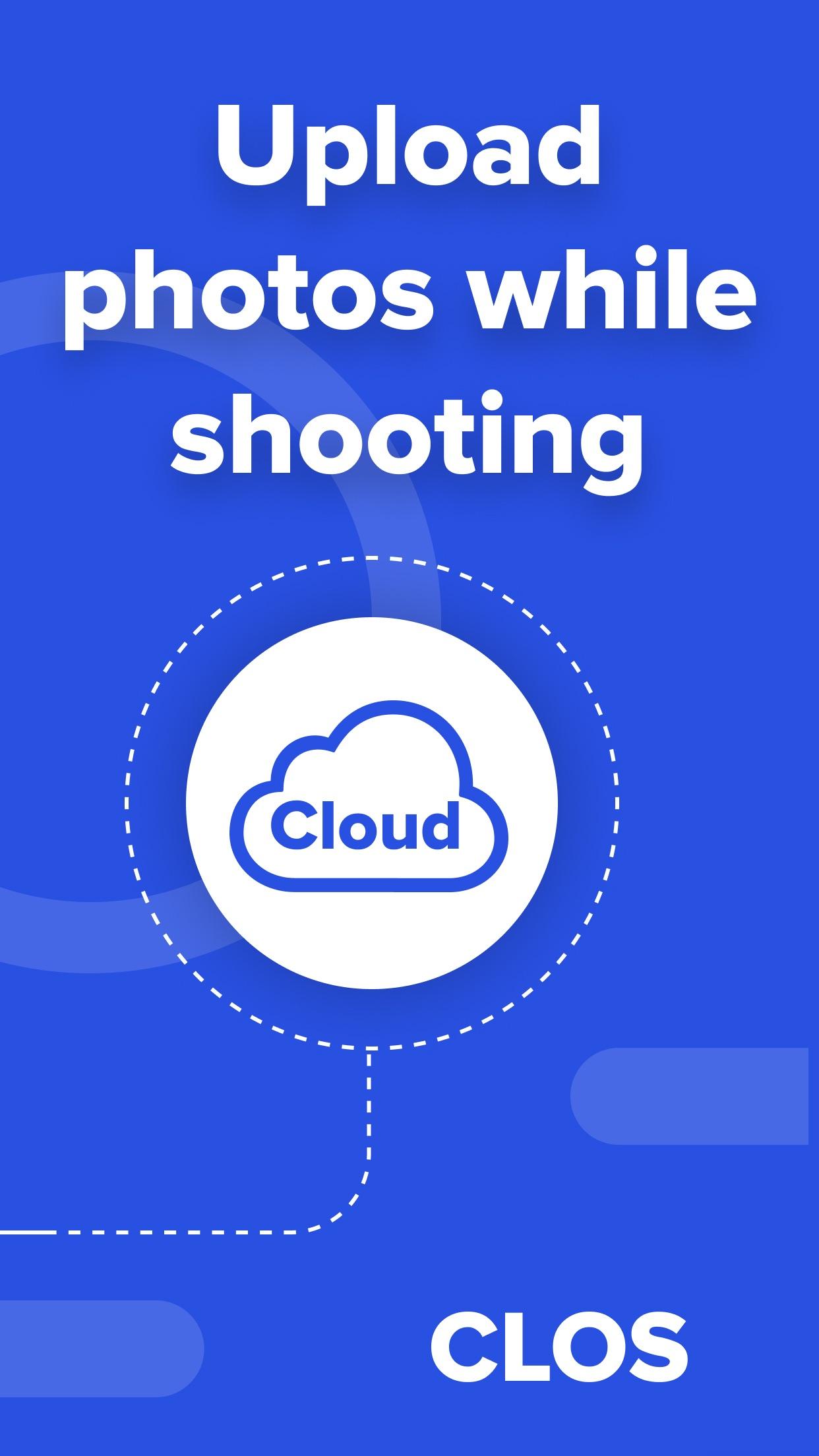 Screenshot do app CLOS - Virtual Photoshoot