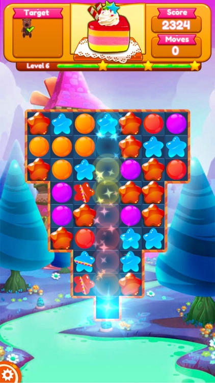 Sweet Candy Blast Fruit puzzle screenshot-5