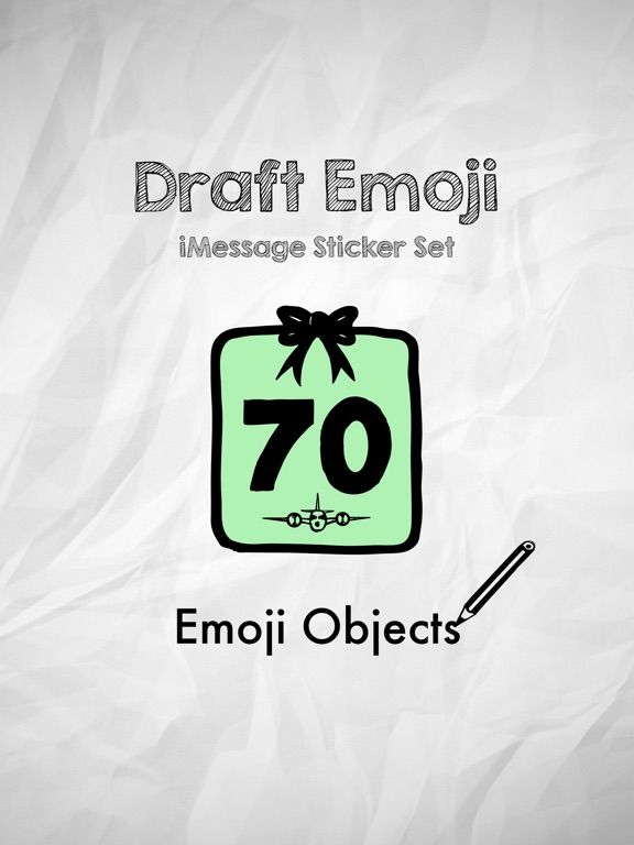 Draft Emoji: Doodle Objects screenshot 4