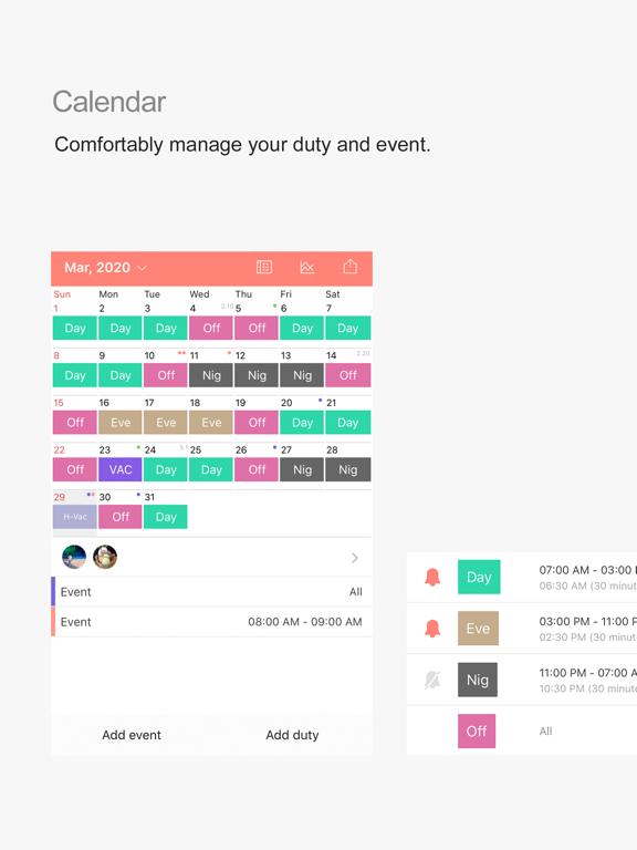 MYDUTY - Nurse Calendar screenshot