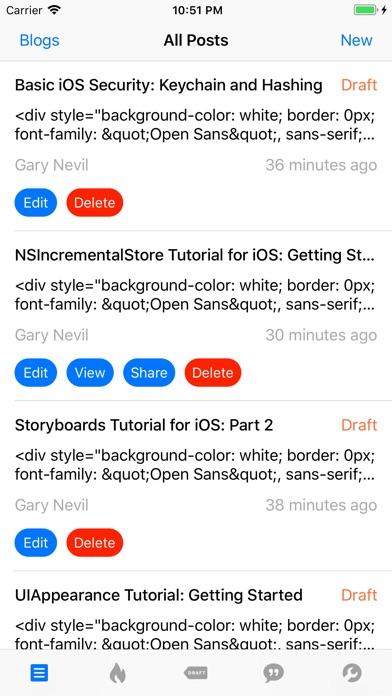 Screenshot for App for Blogger in Singapore App Store