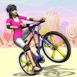 Bmx Girl Wheelie Racing