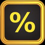 Tip Calculator % Gold