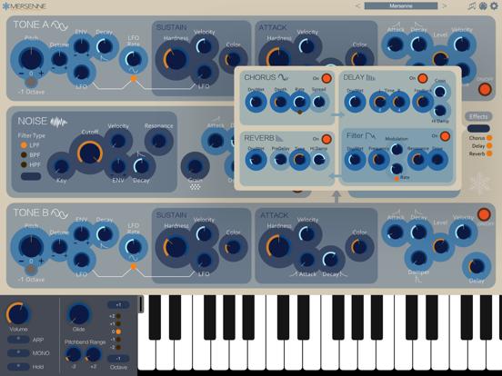 Mersenne - AUv3 Plugin Synth
