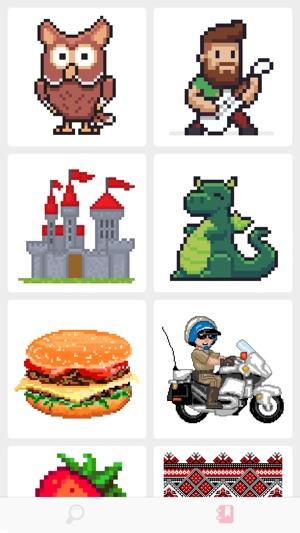 App Store раскраска по номерам Pixel Art