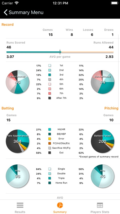 Softball Stats screenshot-2
