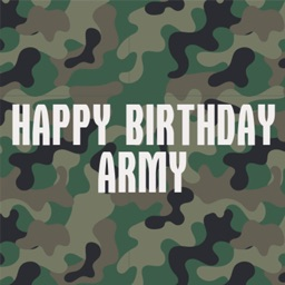 Army Birthday Stickers