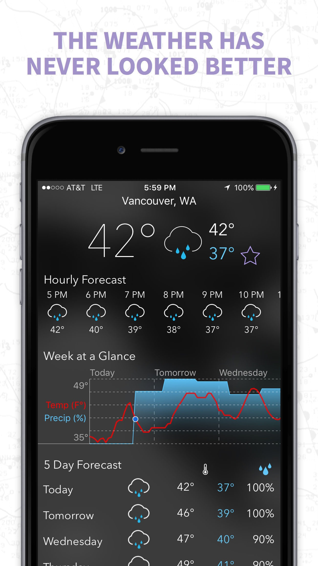 MyRadar NOAA Weather Radar Screenshot