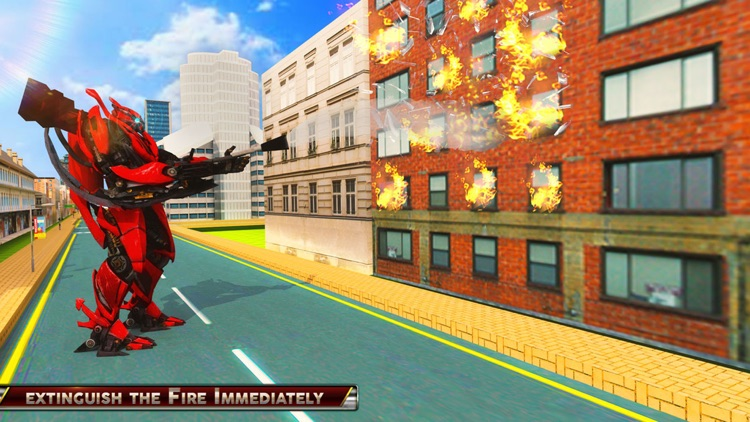 Fire Truck Fighter Robot Fight screenshot-2