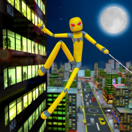Stickman Rope Super Spider 3D iOS App