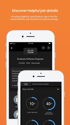 Debut: graduate & student jobs Screenshot