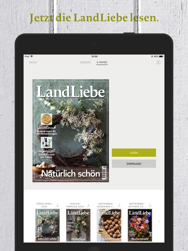 Schweizer LandLiebe on the App Store